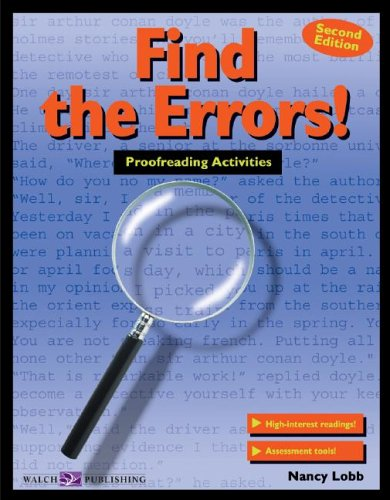Find the Errors!: Proofreading Activities 9780825137242