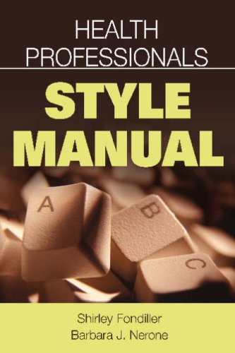Health Professionals Style Manual 9780826102072