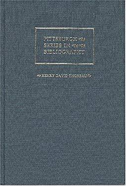 Henry David Thoreau: A Descriptive Bibliography 9780822934455
