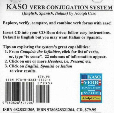 Kaso Verb Conjugation System 9780828321204