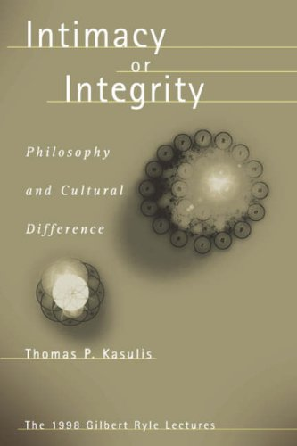 Kasulis: Intimacy or Integrity Pa 9780824825591