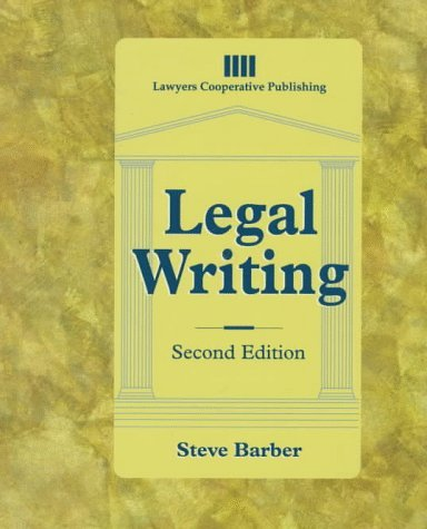 Legal Writing 9780827375390