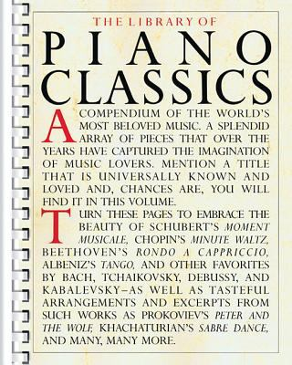 Library of Piano Classics: Piano Solo 9780825611117
