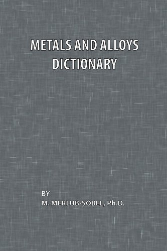 Metals and Alloys Dictionary 9780820600314