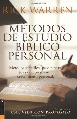 Metodos de Estudio Biblico Personal: 12 Formas de Estudiar la Biblia Tu Solo 9780829745382