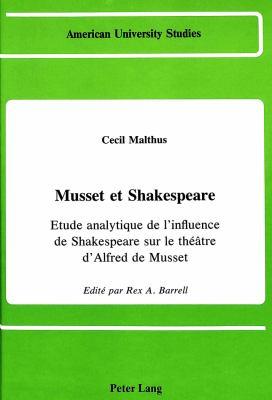 Musset Et Shakespeare 9780820404905