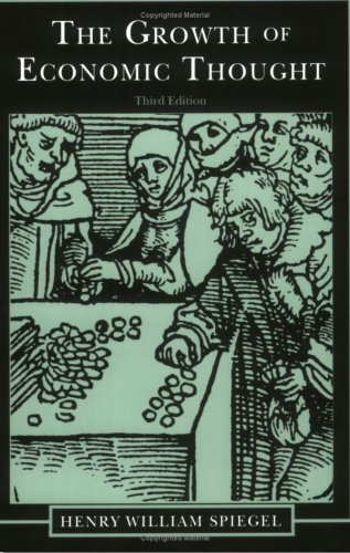 The Growth of Economic Thought, 3rd Ed. 9780822309734