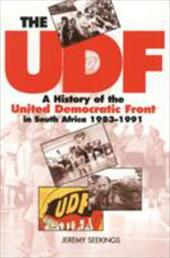 The UDF: A History of the United Democratic Front in South Africa, 1983-1991 3525840