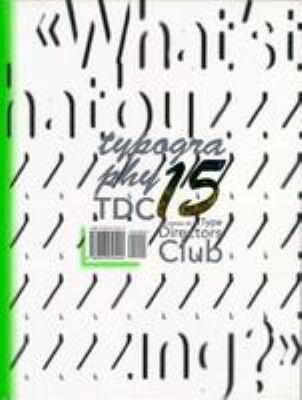 Typography 15: The Annual of the Type Director's Club 9780823055494