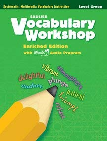 SADL 11 VOCABULARY WORKSHOP {GREEN} Enriched Edition with iWords Audio Program