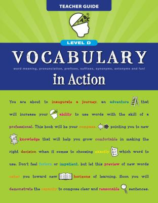 Vocabulary in Action Level D Teacher Guide 9780829427776