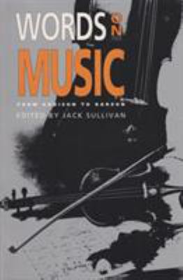 Words on Music: From Addison to Barzun 9780821409596