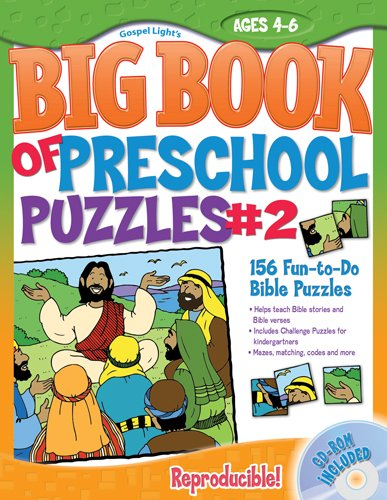 The Big Book of Preschool Puzzles #2: Ages 4-6 [With CDROM] 9780830752270