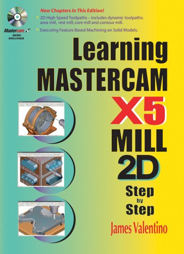 Learning Mastercam X5 Mill 2D Step by Step [With CDROM]