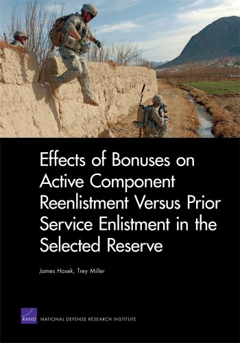 Effects of Bonuses on Active Component Reenlistment Versus Prior Service Enlistment in the Selected Reserve 9780833052162
