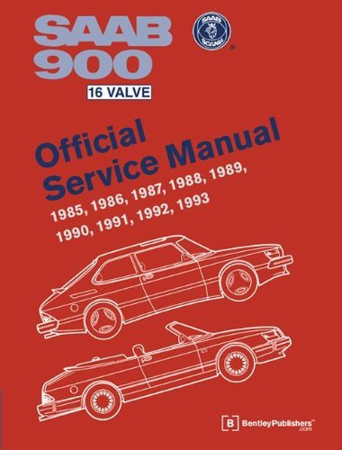 SAAB 900 16 Valve Official Service Manual: 1985, 1986, 1987, 1988, 1989, 1990, 1991, 1992, 1993: Including 1994 Convertible 9780837616933