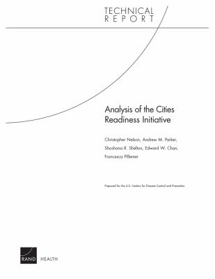 Analysis of the Cities Readiness Initiative 9780833060297