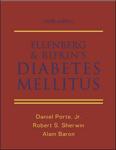 Ellenberg and Rifkin's Diabetes Mellitus 9780838521786