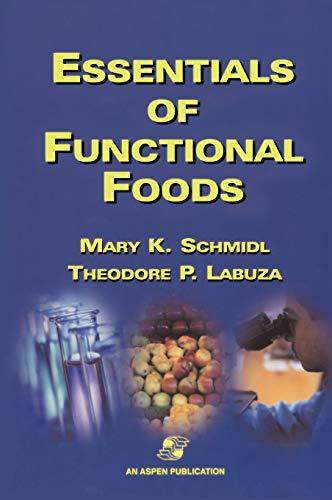 Essentials of Functional Foods 9780834212619