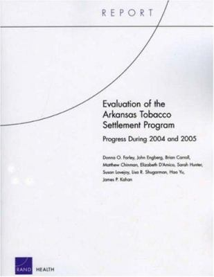 Evaluation of the Arkansas Tobacco Settlement Program: Progress During 2004 and 2005 9780833040466