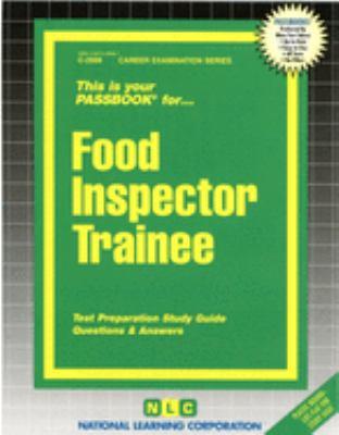 Food Inspector Trainee 9780837329987