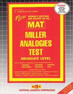 Miller Analogies Test (MAT): Graduate Level 9780837350189