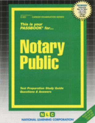 Notary Public 9780837305318