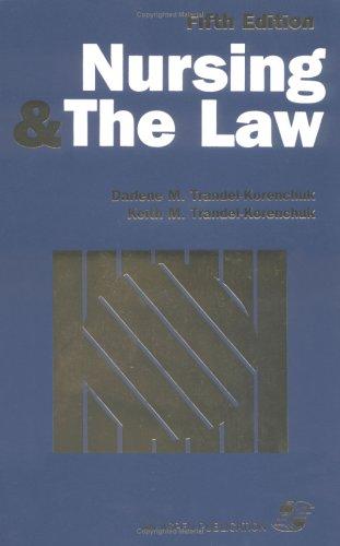 Nursing & the Law 5e 9780834205703