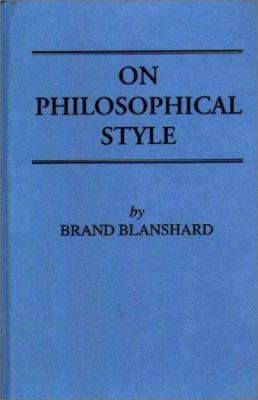 On Philosophical Style 9780837119755