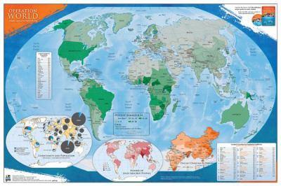 Operation World Prayer Map (UV Coated)
