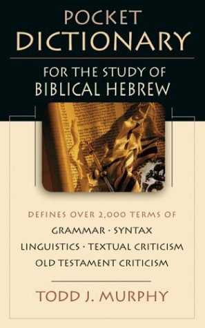 Pocket Dictionary for the Study of Biblical Hebrew 9780830814589