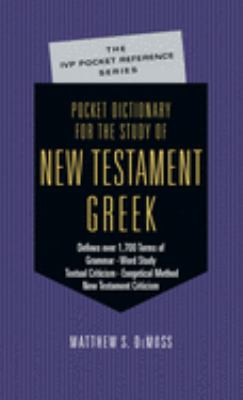 Pocket Dictionary for the Study of New Testament Greek 9780830814640