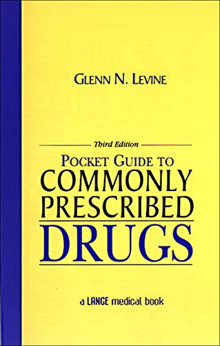 Pocket Guide to Commonly Prescribed Drugs, Third Edition 9780838581469