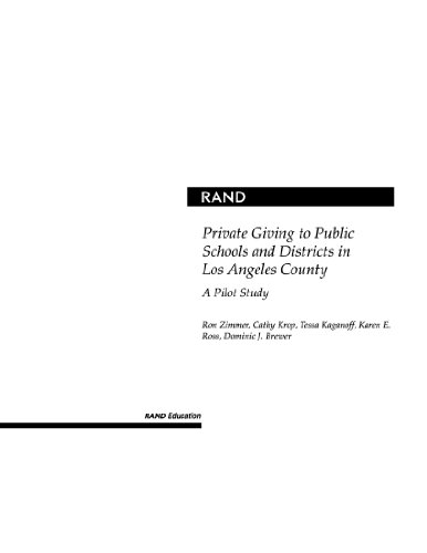 Private Giving to Public Schools and Districts in Los Angeles County: A Pilot Study 2001 9780833030665