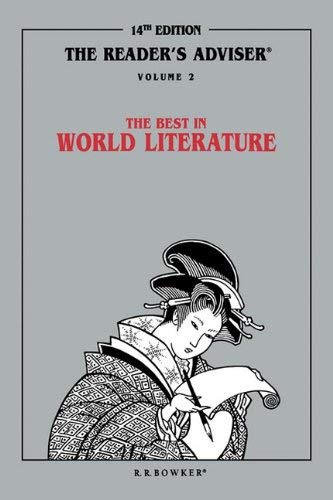 Reader's Adviser: Vol.2 the Best in World Literature 9780835233224