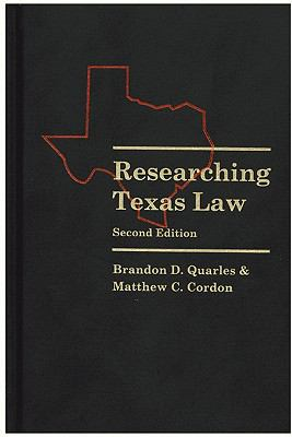 Researching Texas Law 9780837715339