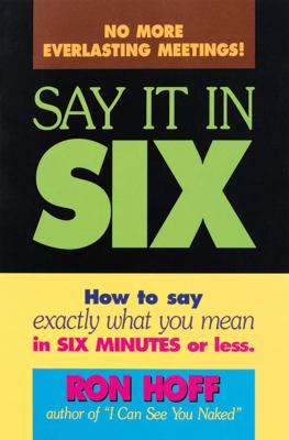 Say It in Six 9780836210415