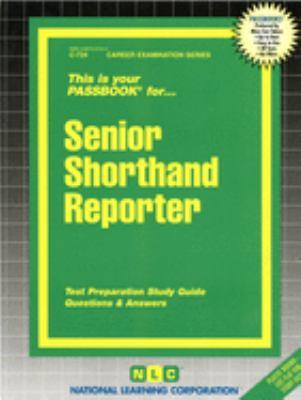 Senior Shorthand Reporter 9780837307244