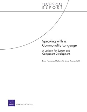 Speaking with a Commonality Language: A Lexicon for System and Component Development 9780833041807
