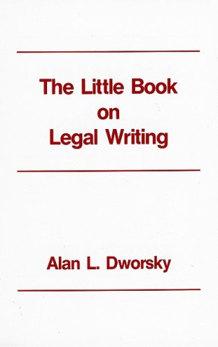 The Little Book on Legal Writing 9780837705606