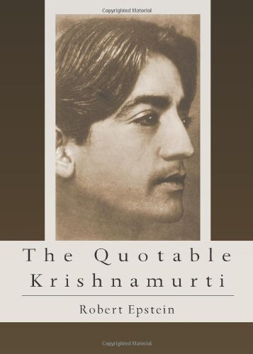 The Quotable Krishnamurti 9780835608909