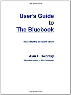 User's Guide to the Bluebook 9780837738383
