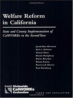 Welfare Reform in California: State and County Implementation of Calworks in the Second Year 9780833028822