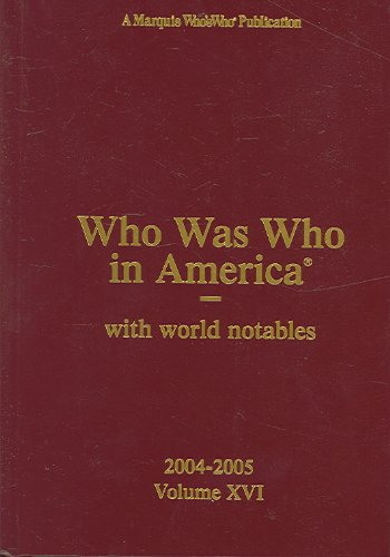 Who Was Who in America: With World Notables