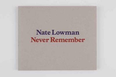 Nate Lowman: Never Remember