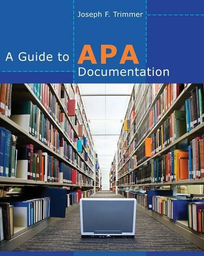 A Guide to APA Documentation 9780840030108