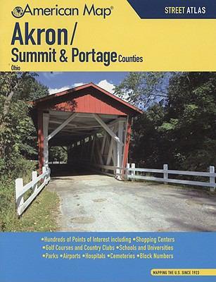 Akron/Summit & Portage Counties Ohio Street Atlas 9780841607897