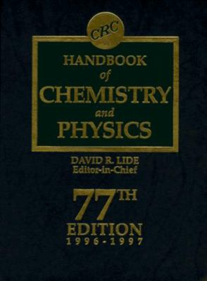 CRC Handbook of Chemistry and Physics 77th Edition 9780849304774