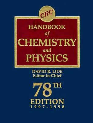 CRC Handbook of Chemistry and Physics 78th Edition 9780849304781