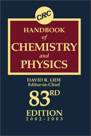 CRC Handbook of Chemistry and Physics, 83rd Edition